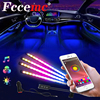 ICRGB Car LED Foot Light Ambient Lamp With Wireless Remote Music Control Multiple Modes Automotive Interior Decorative Lights