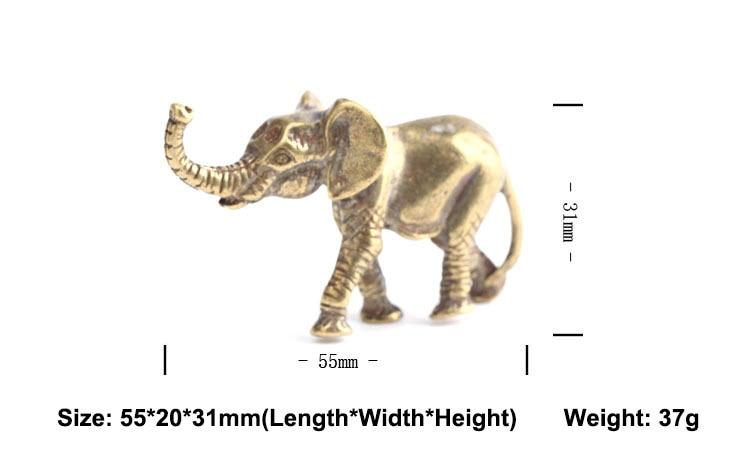 Brass Elephant Key Chains Pendants  (10)
