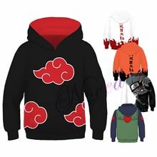 Kids Naruto Hoodie Sweatshirt Anime Akatsuki Sasuke Itachi Uchiha Uzumaki Cosplay Costume Boys Halloween Christmas Pullover