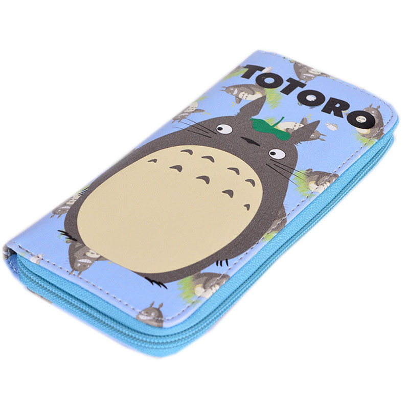 2016 Hot Selling Anime My Neighbor Totoro Colorful Long PU Wallet/Cell Phone Purse Printed With Totoro