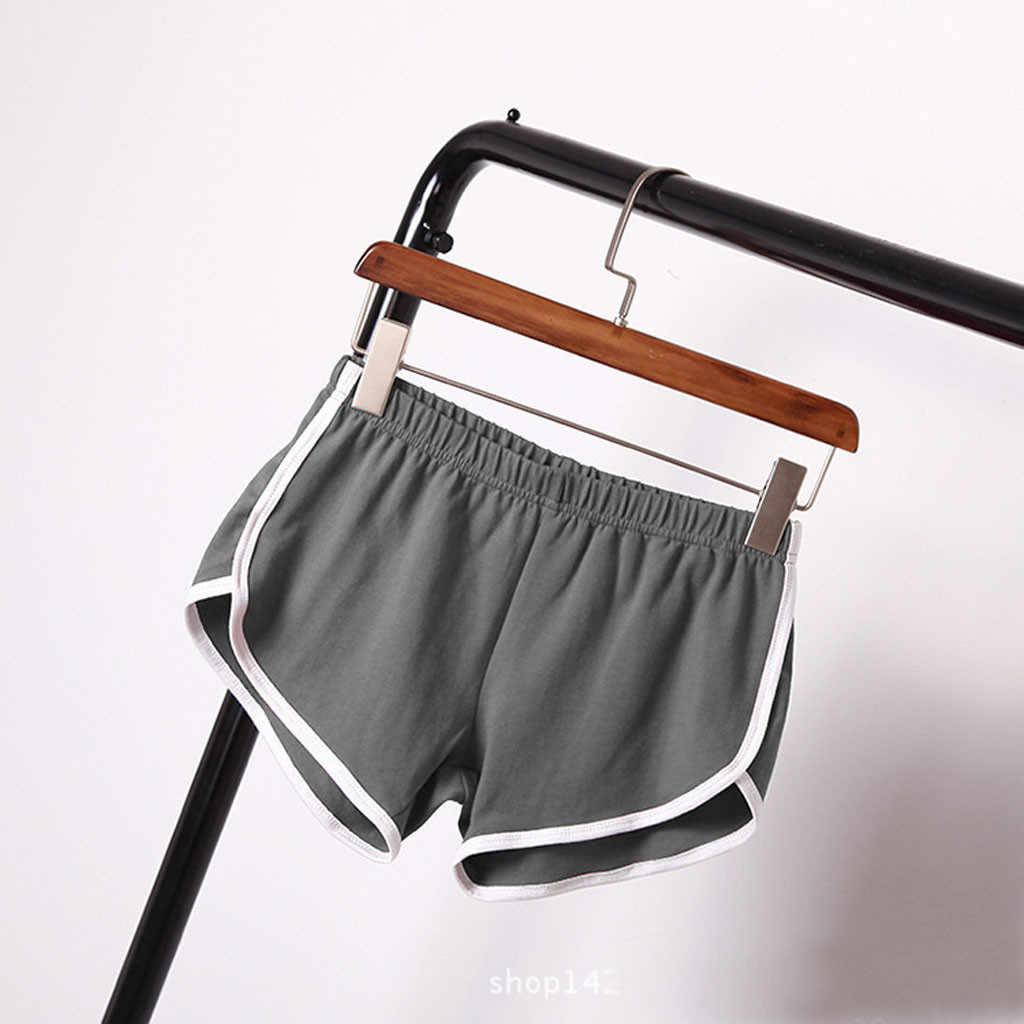 Shorts esportivo feminino, short fitness de corrida para academia ciclistas algodão cintura alta esportes academia plus size