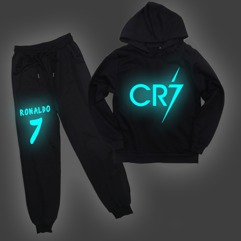 Pants Hoodies Sweatshirt Tracksuit Children CR7 Ronaldo Kids Casual for 2-14Y Unsex And title=