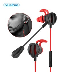 Проводные наушники-вкладыши с шумоподавлением, игровые наушники с двойным микрофоном, с шумоизоляцией, для PUBG CSGO PS4