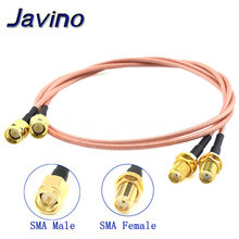 цена на SMA male to SMA female Pigtail RG316 low loss RF cable plug to jack connector for WIFI FPV Antenna GSM, LAN 0-6Ghz