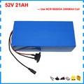 Литиевая батарея 2000 Вт 52 в 25 Ач  51 8 в 21 Ач  батарея для электрического скутера 52 в  для ebike  NCR18650GA  3500 мАч  18650 ячейка с зарядным устройством