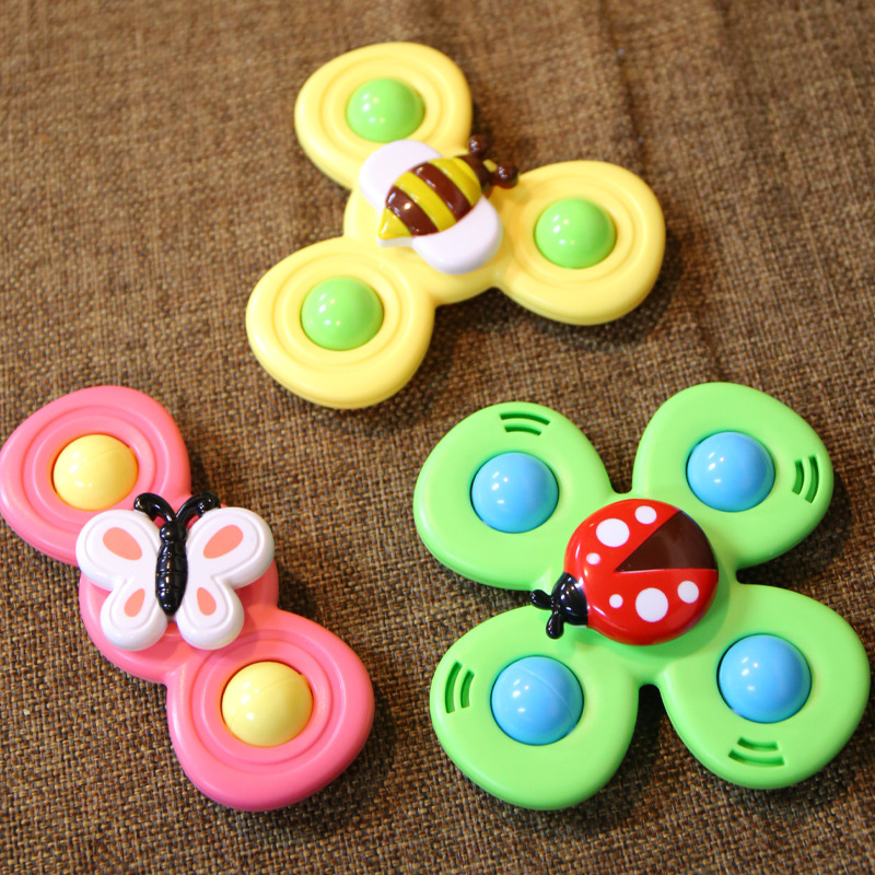 Spinner-Toys Bath-Toys Gyro Fidget Baby Cartoon Relief-Stress Colorful ABS Insect img3