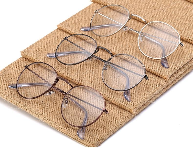 Fashion glasses frame Classic Round Women's Metal frame Optical Glasses Computer blue light Glasses oval eyeglasses frame Retro (10)