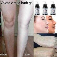 Популярный отбеливающий гель для душа с вулканической грязью для кожи, для мытья всего тела, для глубокой очистки кожи, увлажняющий, отшелушивающий уход за телом, быстрый эффект