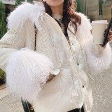 MISHOW 2019 hiver femmes 90% duvet de canard blanc épais manteau mode femme à capuche fourrure col court épais doudoune MX19D8869