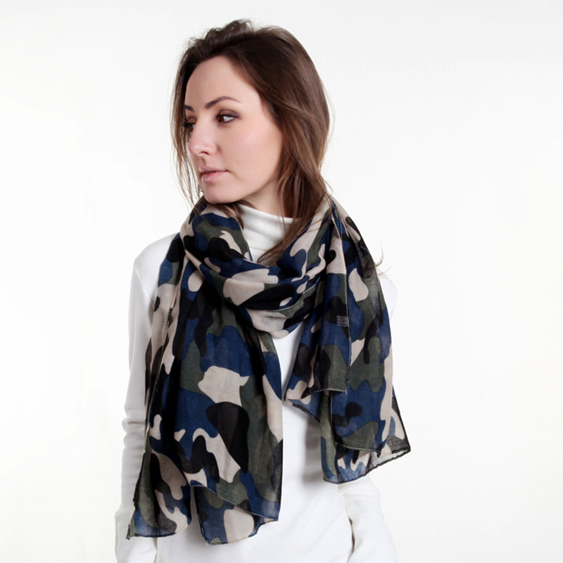 2018 Europe And America Versatile Classic Fashion Encryption Camouflage Men And Women Voile Printed Scarf Silk Scarves Shawl
