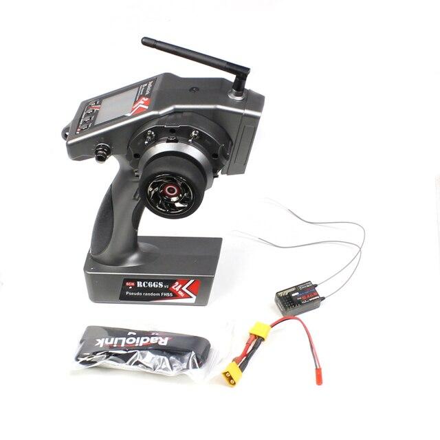 Radyolink RC6GS V2 verici 2.4G 6CH RC araba tekne kontrol verici ve R7FG içinde Gyro alıcı
