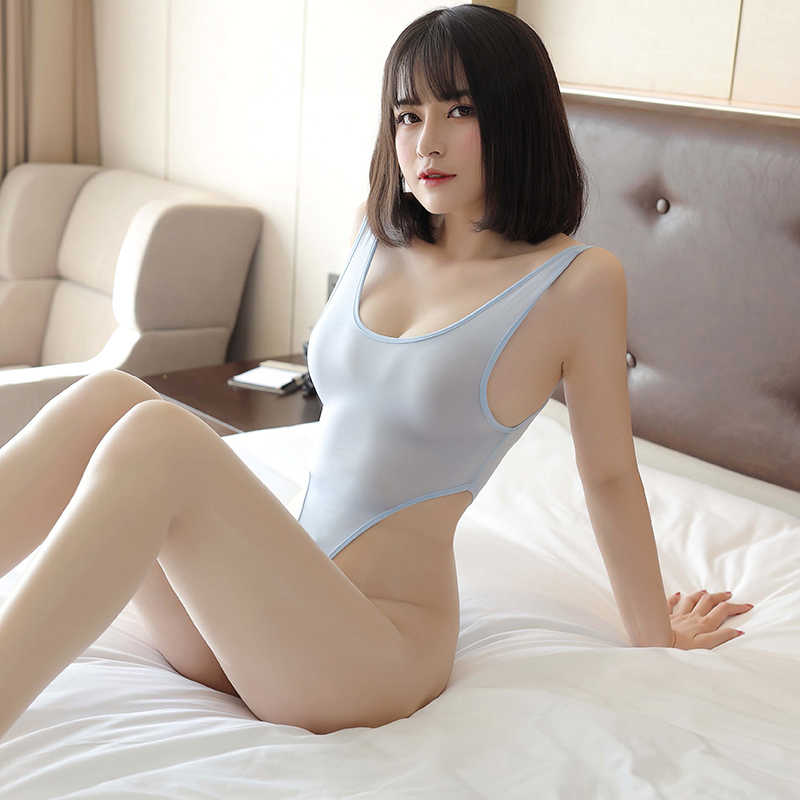 Women Porn Allure Bodysuits Sexy See Through High Cut Nude