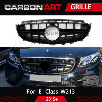 New E Class W213 Grille  Design Front Bumper Grill  Replacement Auto Mesh for Mercedes E200 E300 E320 Sports