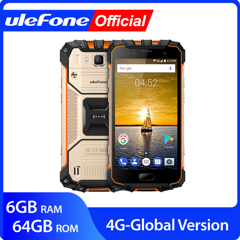"Ulefone Armor 2 IP68 Waterproof Mobile Phone Android 7.0 5.0"" FHD MTK6757 Octa Core 6GB+64GB 16MP Global Version 4G Smartphone"