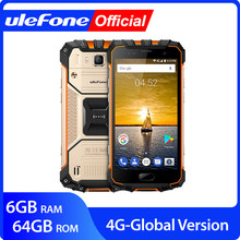 "Ulefone Armor IP68 Mobile Ponsel Android 7.0 5.0 ""FHD MTK6757 Octa Core 6GB + 64GB 16MP Global Versi 4G Smartphone(China)"
