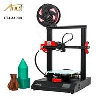 Anet ET4 3d printer DIY High Precision A4988/TMC2208 Extruder Prusa i3 Printer 3d DIY Kit impresora 3d Printer with PLA Filament
