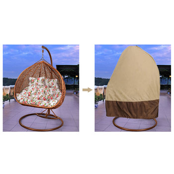 Outdoor Hanging Hammock Swing Chair Stand Seat Cover Patio Garden Chair Cover Waterproof Leisure Swing Chair Protactor Cover