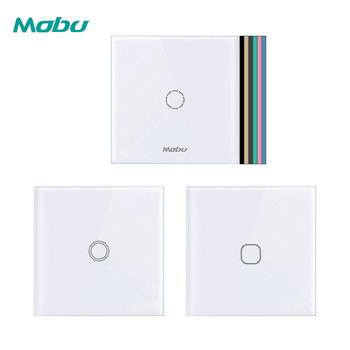 Mogu 1 Gang 1 Way panel ze szkła kryształowego przełącznik dotykowy przełącznik ekranu dotykowego ściany światła tanie i dobre opinie mobu Crystal Glass Panel Z tworzywa sztucznego RoHS Przełączniki D601 Dotykowy włącznik wyłącznik