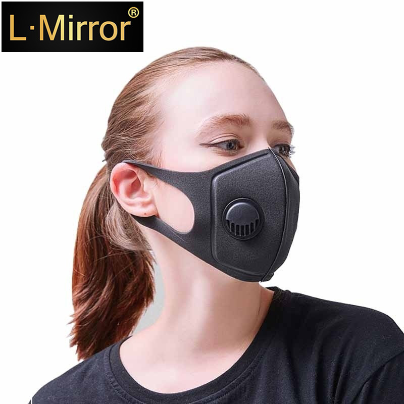 L.Mirror 1Pcs Respiratory Dust Fashion Upgraded Version Men & Women Anti-fog Haze Pm2.5 Pollen Breathable Mouth Face Mask