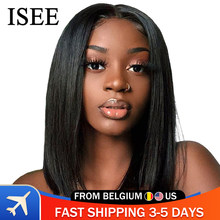 Perruque Bob Lace Frontal Wig 360 malaisienne-ISEE Hair | Perruque naturelle, cheveux lisses courts, perruque Lace Front Wig, cheveux humains, courte