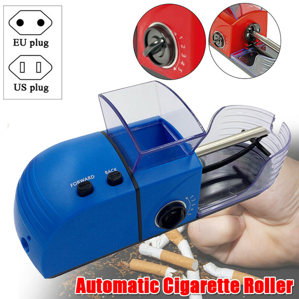 100-240V Electric Automatic Cigarette Roller Tobacco Rolling Injector  78mm DIY Smoking Tool Smoking Accessories EU / US Plug 2