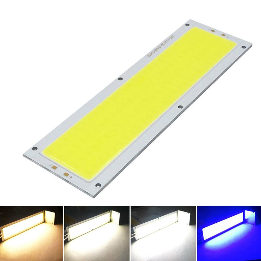 1000LM LED COB Light Strip Panel Lamp DC 12V 20W 120mm X 36mm Cool Warm White Blue Floodlight Source Bulbs For DIY Work Light