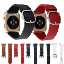 Leather strap square buckle modern style For apple watch band series 5 4 3 2 1 sport for iwatch 42/44/40/38mm