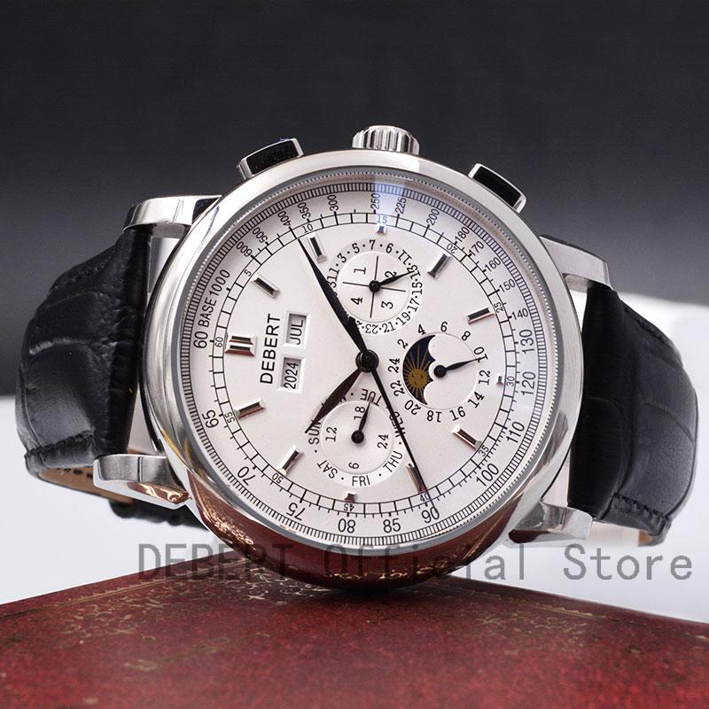 42 Moon Phase watch men Week calendar year month automatic mechanical часы мужские механические montre homme 316L Stainless stee Mechanical Watches    - AliExpress