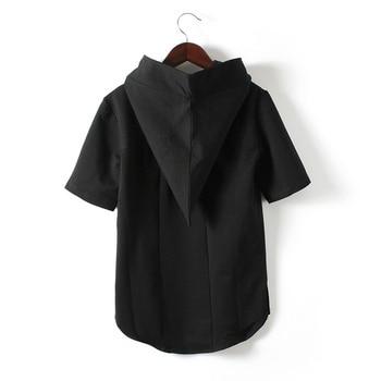 Clothing Spring Personality Alternative Nightclub Shaman Hooded Short-sleeved T-shirt Japan and South Korea Half-sleeved T-shirt