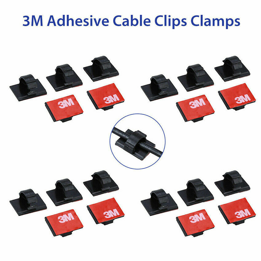 3M Self-adhesive Wire Tie Cable Clamp Clips Holder For Car Dash Camera GPS 20Pcs