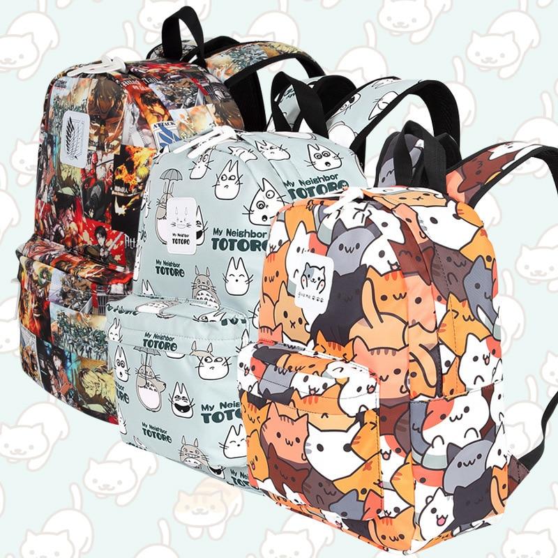 3PCS Anime Fairy Tail Boys Large School Backpack Shoulder Bags Pencil Case Lot