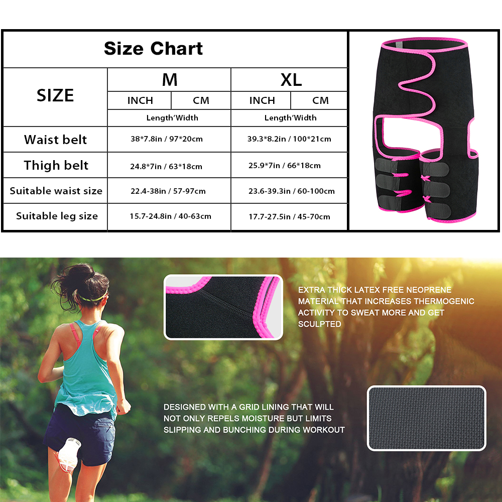 WOMEN SHAPEWEAR WAIST MID-THIGH SHAPERS FAT BURNING