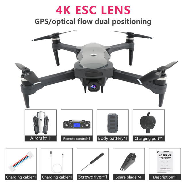 Eachine GPS with 4K HD Camera Mini Drone Quadcopter Optical flow positioning Foldable Wifi 1.8KM Profesional Dron RC Helicopter