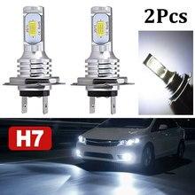 1 para żarówki LED do reflektorów H7 wysoka lub martwa wiązka 55W 8000lm Super Bright 6000K biała dioda LED 55W wysokiej jakości reflektory samochodowe LED