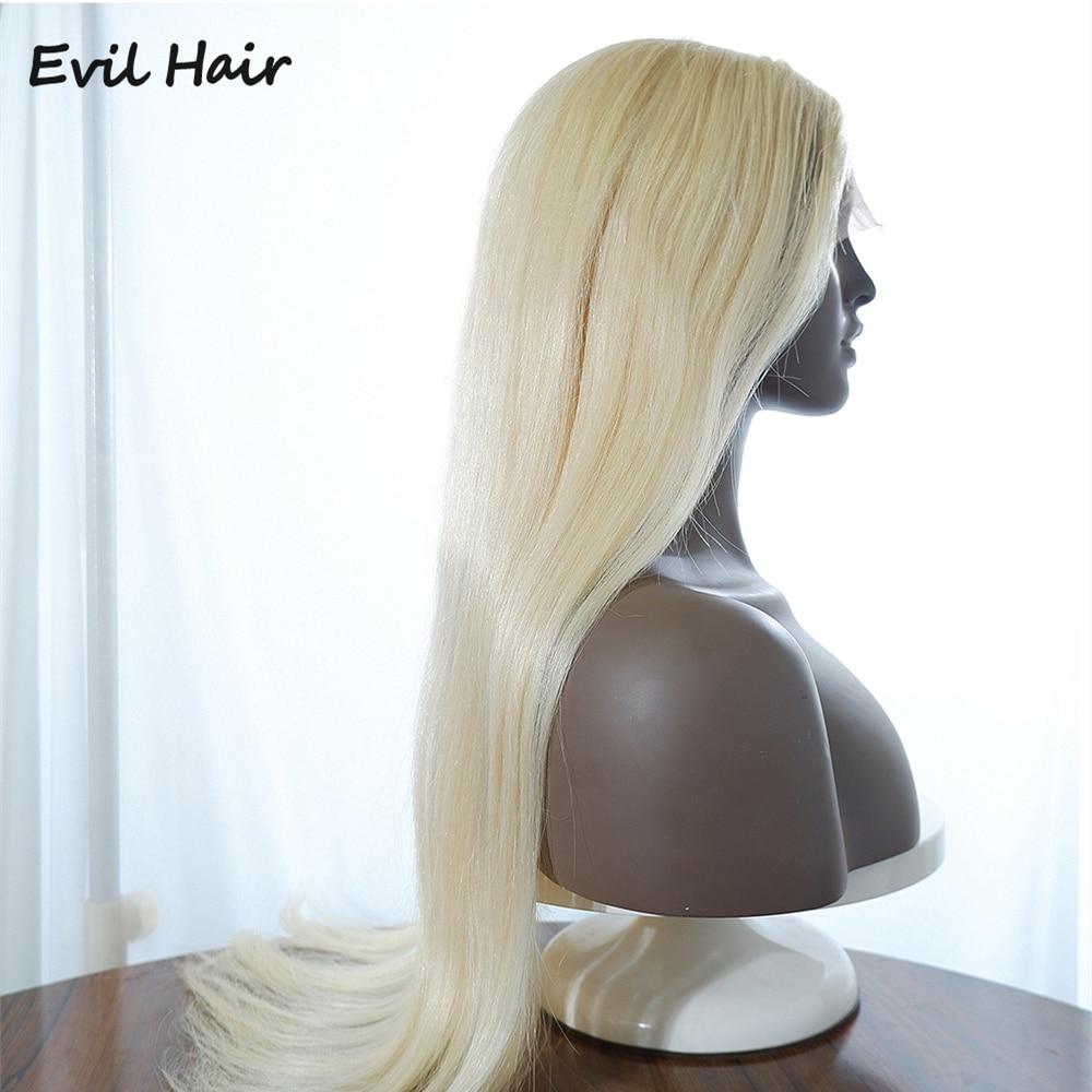 613 parrucca bionda in pizzo parrucca brasiliana parte in pizzo parrucche per capelli umani Pre pizzicate con capelli lisci 150 Densi Remy parrucche bionde