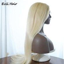 613 loira parte do laço peruca brasileira parte do laço perucas de cabelo humano pré arrancadas com cabelo reto 150 densi remy perucas louras