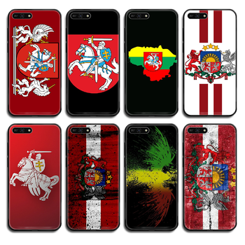 Lithuania Latvia flag Phone case cover hull For Huawei Honor Mate 5 6 7 8 9 10 20 30 A C X Lite Pro black funda art prime pretty image
