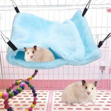 pet Hanging Sleeping Nest Small Animal Small Pet Hammock Soft Hanging Sleeping Bag Bed with Hook for Hamster(China)