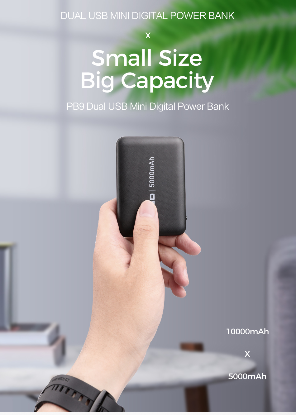 ROCK Slim Power Bank 10000mAh External Battery Charger Mini Pover Bank Powerbank for iphone Samsung Xiaomi Fast charging 1