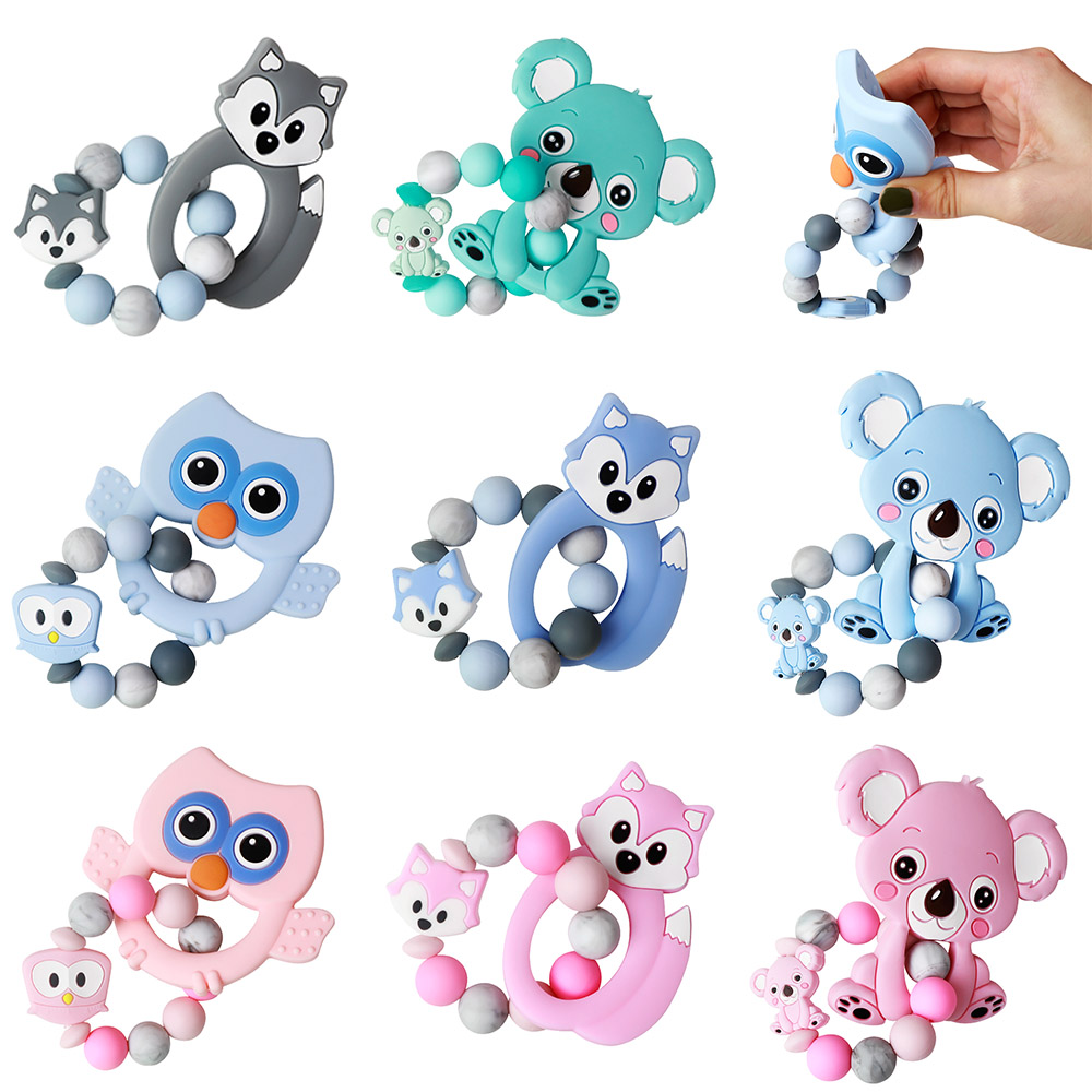 TYRY.HU Silicone Baby Teether Bracelet BPA Free Baby Teething Beads Nurse Gift Food Grade Silicone Toy Product Baby Bracelet