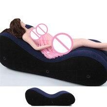 Sex Sofa Aufblasbare Bett Liebe Sex Stuhl Kissen Aufblasbare Sofa Sexuelle Positionen Erotische Erwachsene Sex Möbel Sex Spielzeug für Paar