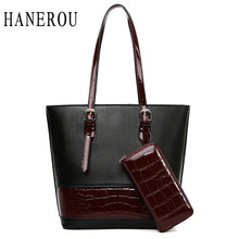 2pcs Crocodile Pattern Composite Bags Women Handbags And Purses Set Retro Patchwork Ladies Shoulder Bag Large Capacity Totes
