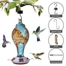 Кормушка для птиц расписной Колибри подвесной садовый фонтан
