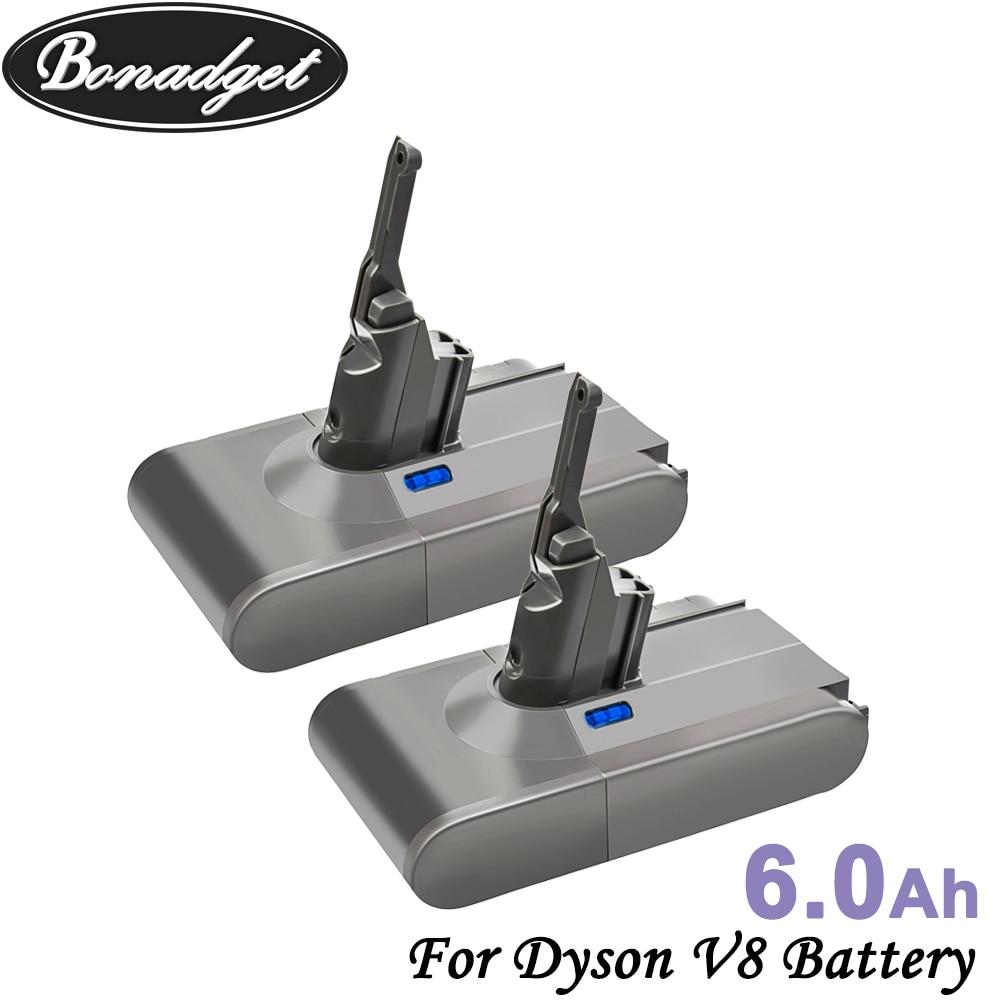 Bonadget V8 6000mAh 21.6V Battery For Dyson V8 Battery Absolute V8 Animal Li-ion Vacuum Cleaner Rechargeable BATTERY