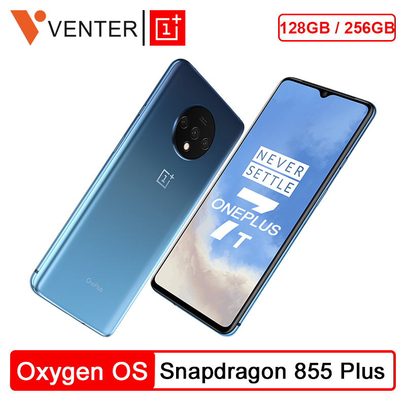 Original Global ROM OnePlus 7T 7 T 8GB Smartphone Snapdragon 855 Plus 6.55'' 90Hz AMOLED Screen 48MP Triple Cam NFC Android 10