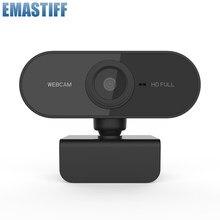 Kamera internetowa HD 1080P minikomputer PC kamera internetowa z wtyczką USB obrotowe kamery do transmisji na żywo wideokonferencje
