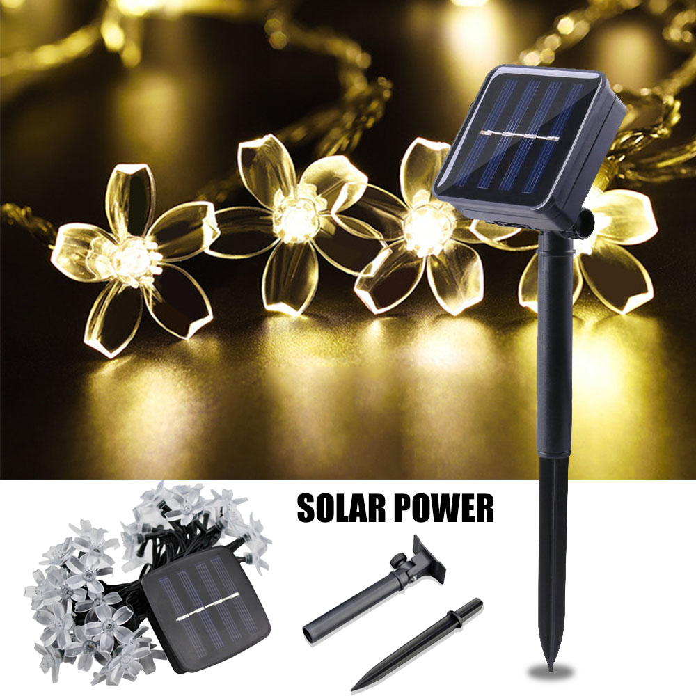 Solar Garden Light LED String Fairy Lights Solar Lamp Outdoor Waterproof Christmas/Wedding/Party Home Decor Street Pathway Light