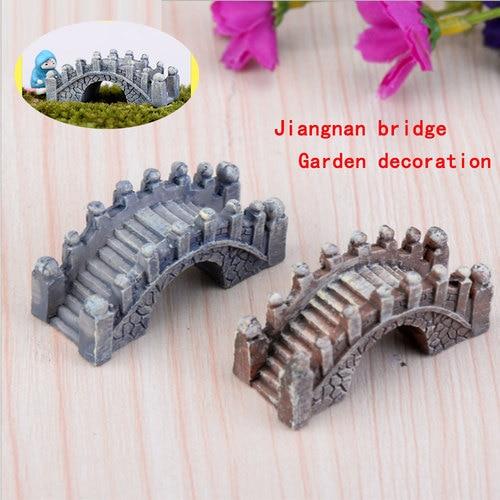 Micro landscape decoration resin decoration palace style jiangnan small bridge creative craft decoration