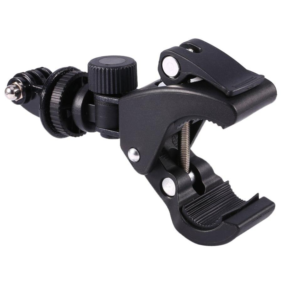 GloryStar Black Bike Bicycle Motorcycle Handlebar Handle Clamp Bar Camera Mount Tripod Adapter For Gopro Hero 1 2 3 3+ 4-3