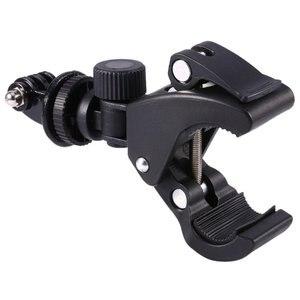 Image 4 - GloryStar Nero Della Bicicletta Della Bici Del Motociclo Manubrio Maniglia Morsetto Bar Camera Tripod Mount Adapter Per Gopro Eroe 1 2 3 3 + 4